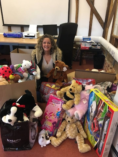 Christmas 2017 Debbie Fosker for Family Solutions redistributing donated toys for families in Tendring.jpg