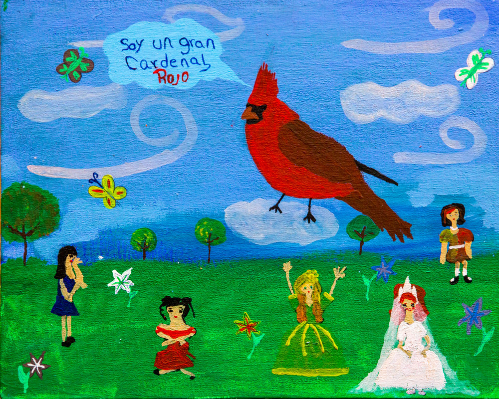 The Great Red Cardinal - Karen Juárez Aguilar, Age 11 (2015)