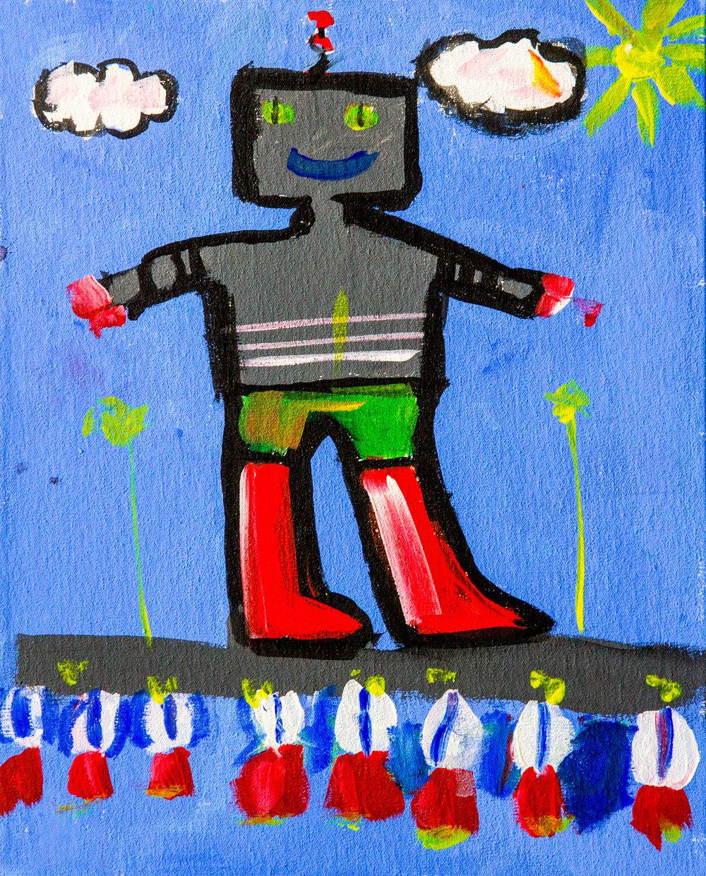 The Robot - Diana Ramírez. Age 8.(2015)