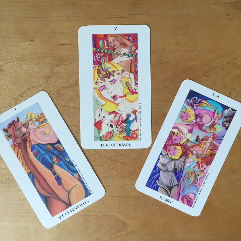 Cards from the Tarocchi di Donne by Gloria N. Castellucci