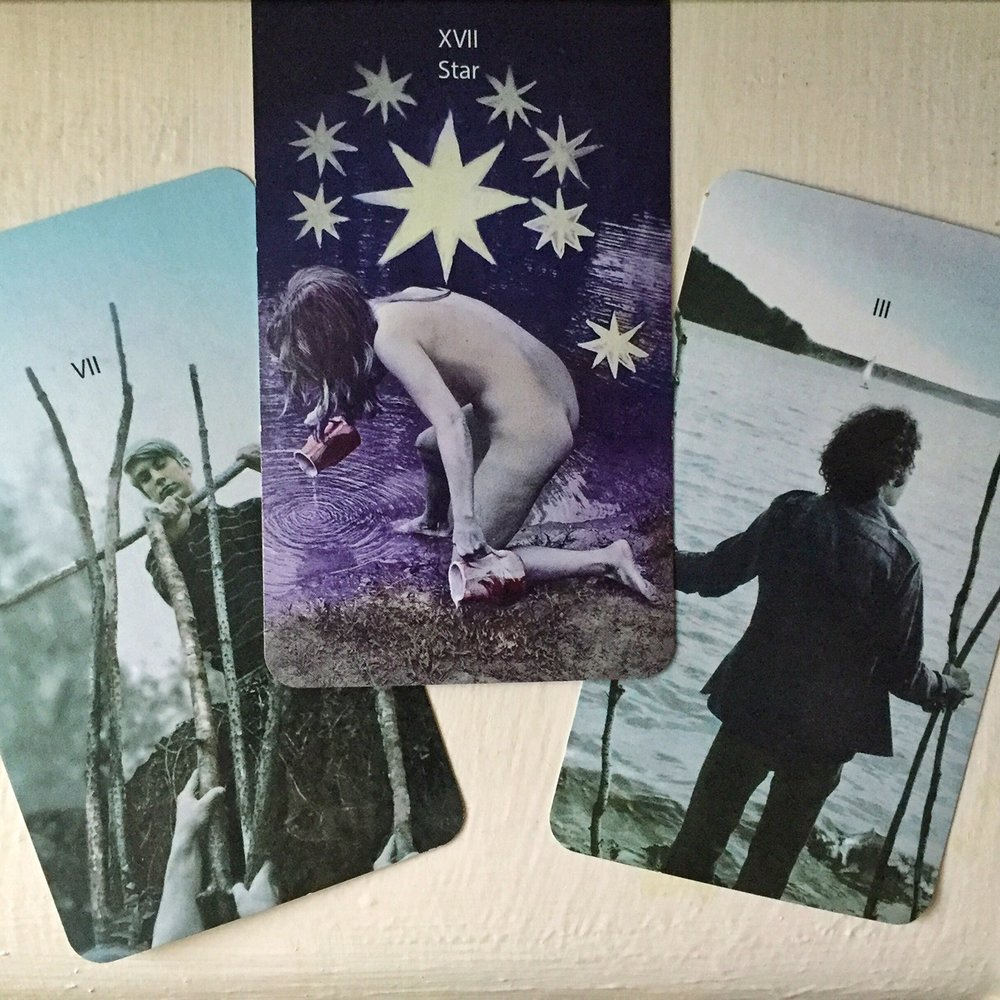 Cards from the  Mountain Dream Tarot