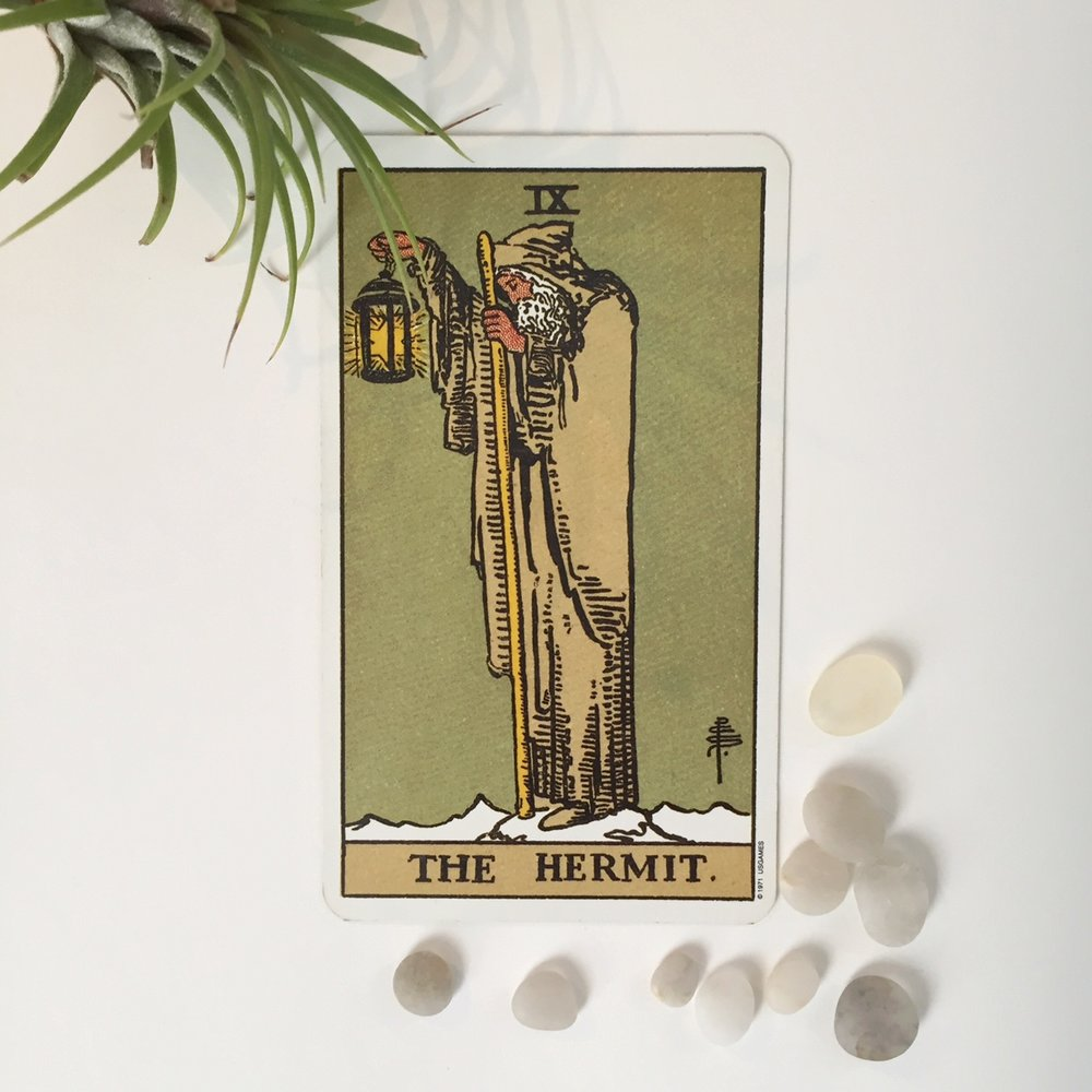 Incandescent Tarot for Self-Care The Hermit