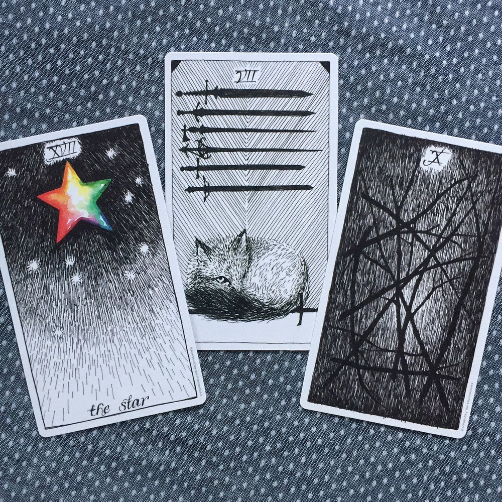 Cards from The Wild Unknown Tarot