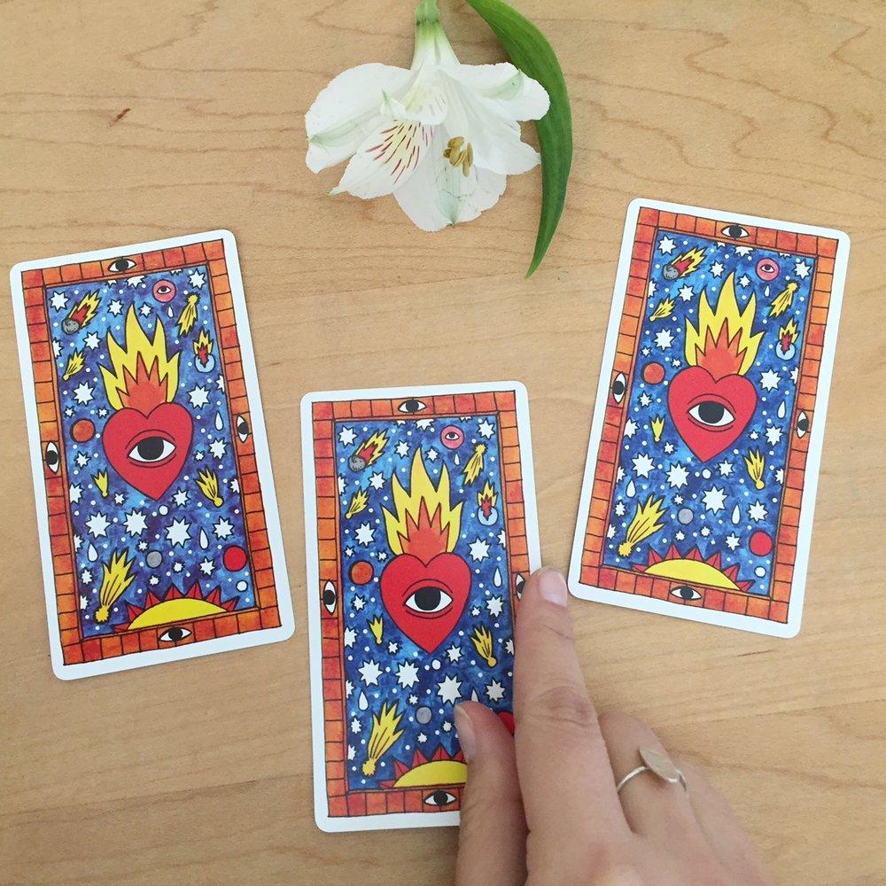 Cards from Tarot del Fuego.