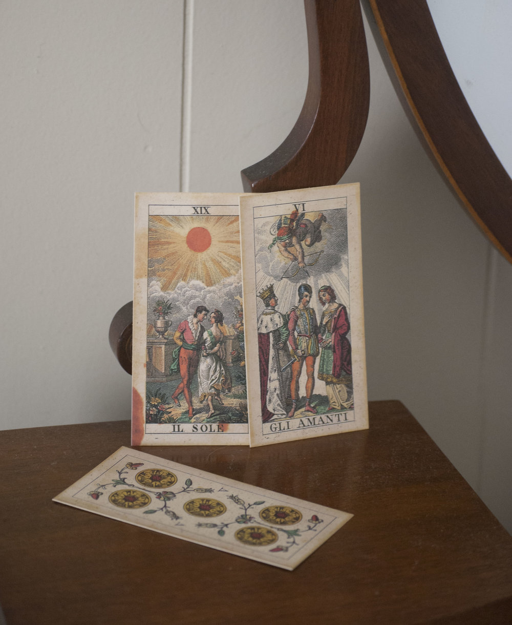 The Sun & The Lovers Tarot Cards
