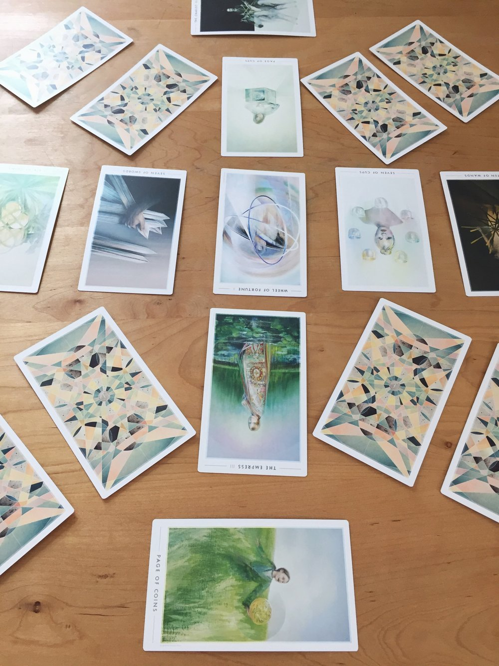 So many cards! (From the Fountain Tarot)