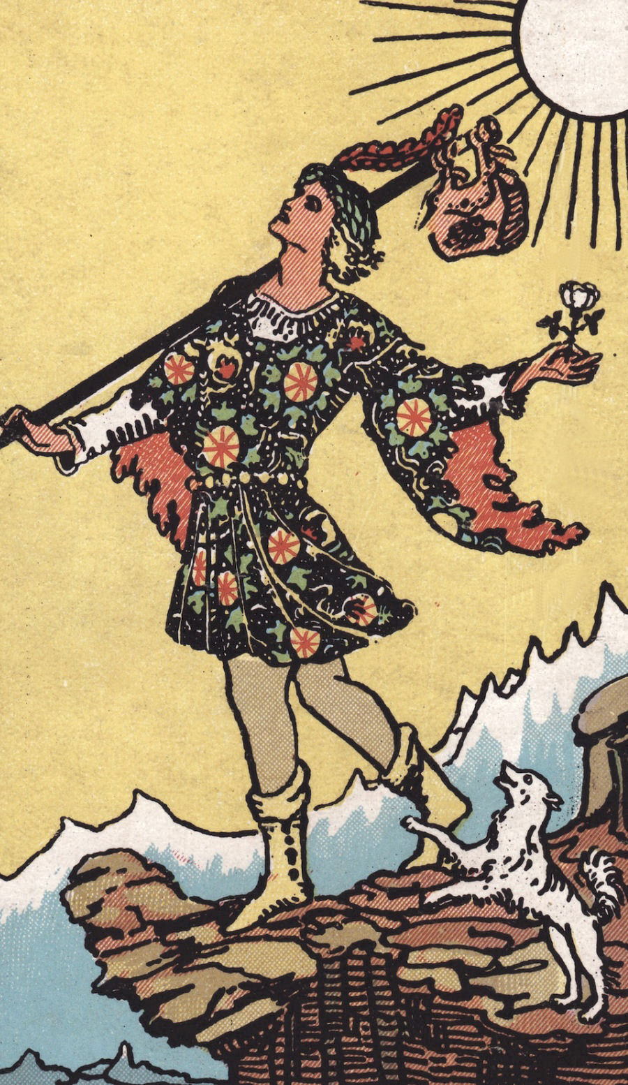Tarot Card Meanings for The Fool from the Rider Waite Deck
