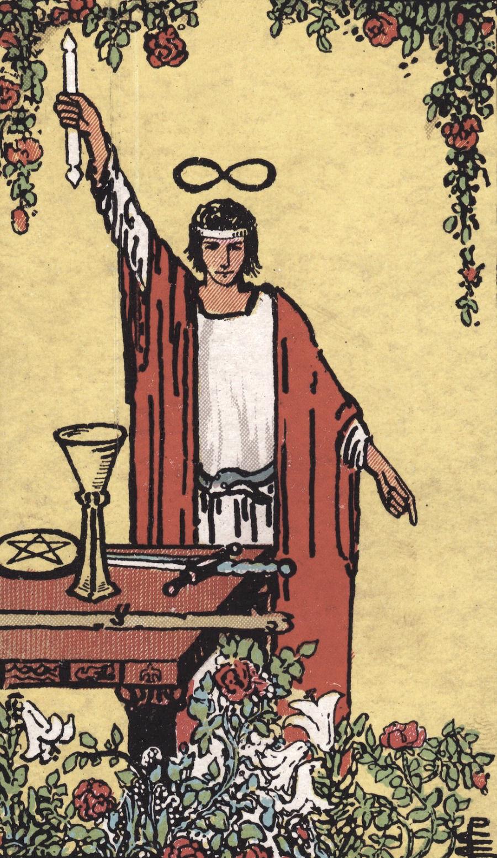 The Magician Ride Waite Tarot Card