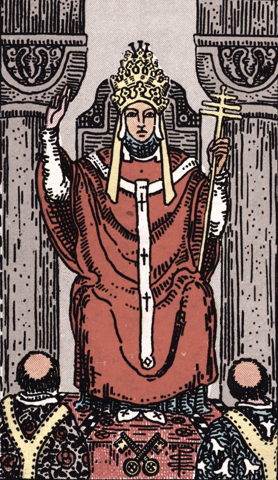 The Hierophant Ride Waite Tarot Card