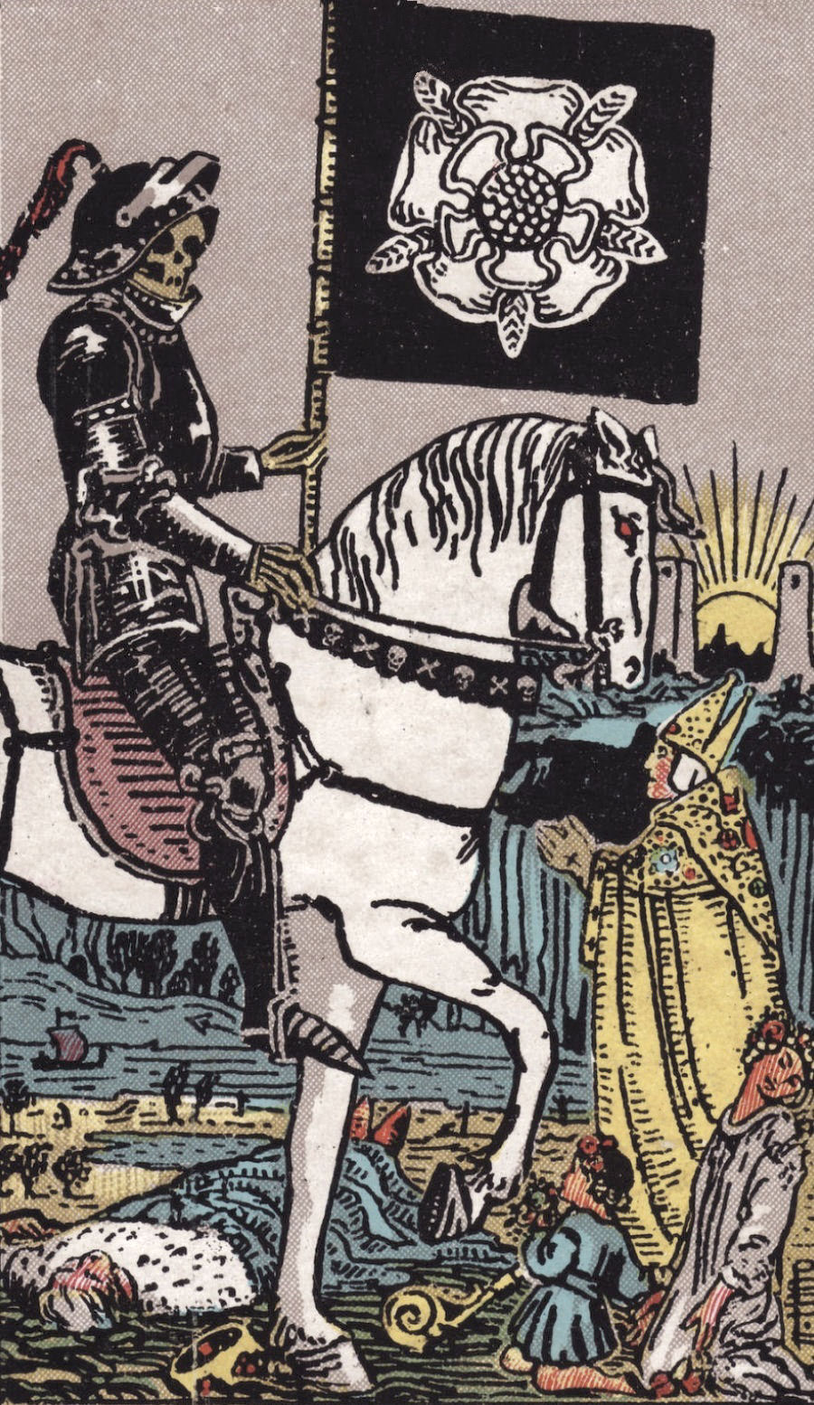 Death Ride Waite Tarot Card