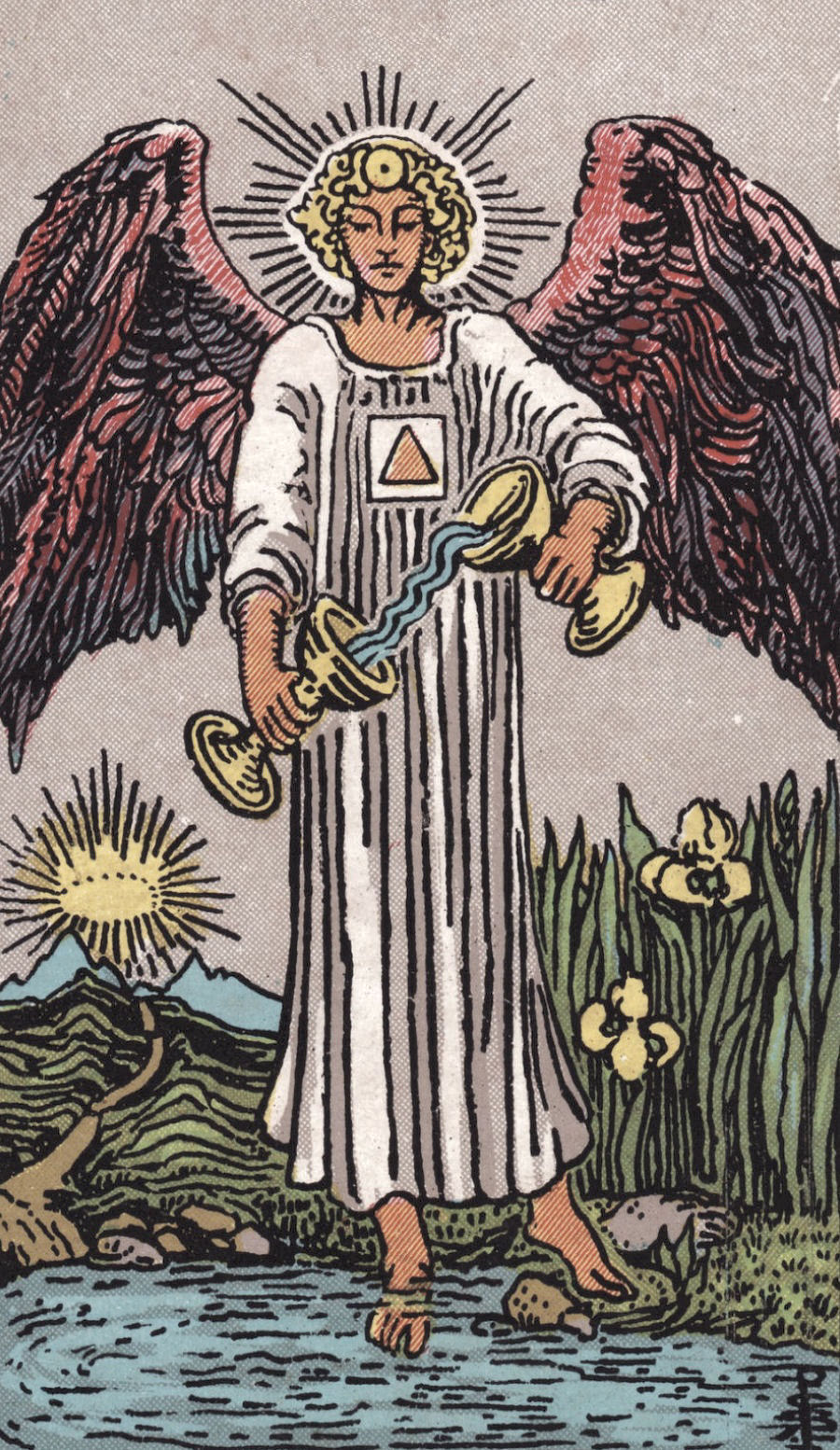 Temperance Ride Waite Tarot Card