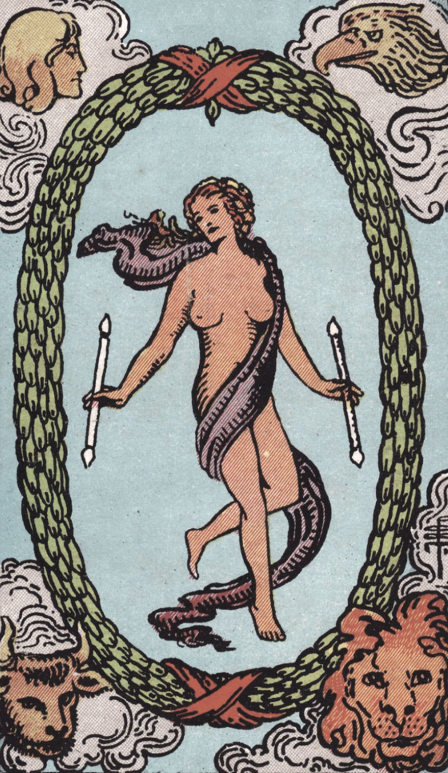 The World Rider Waite Smith Tarot Card