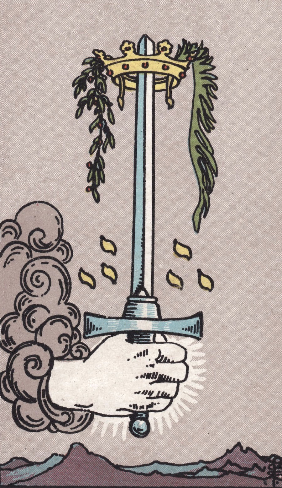 Rider Waite Smith Ace of Swords Tarot Card Meaning