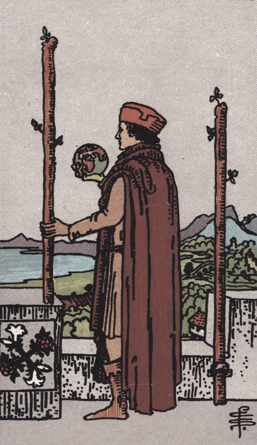 Rider Waite Smith Two of Wands Tarot Card Meaning