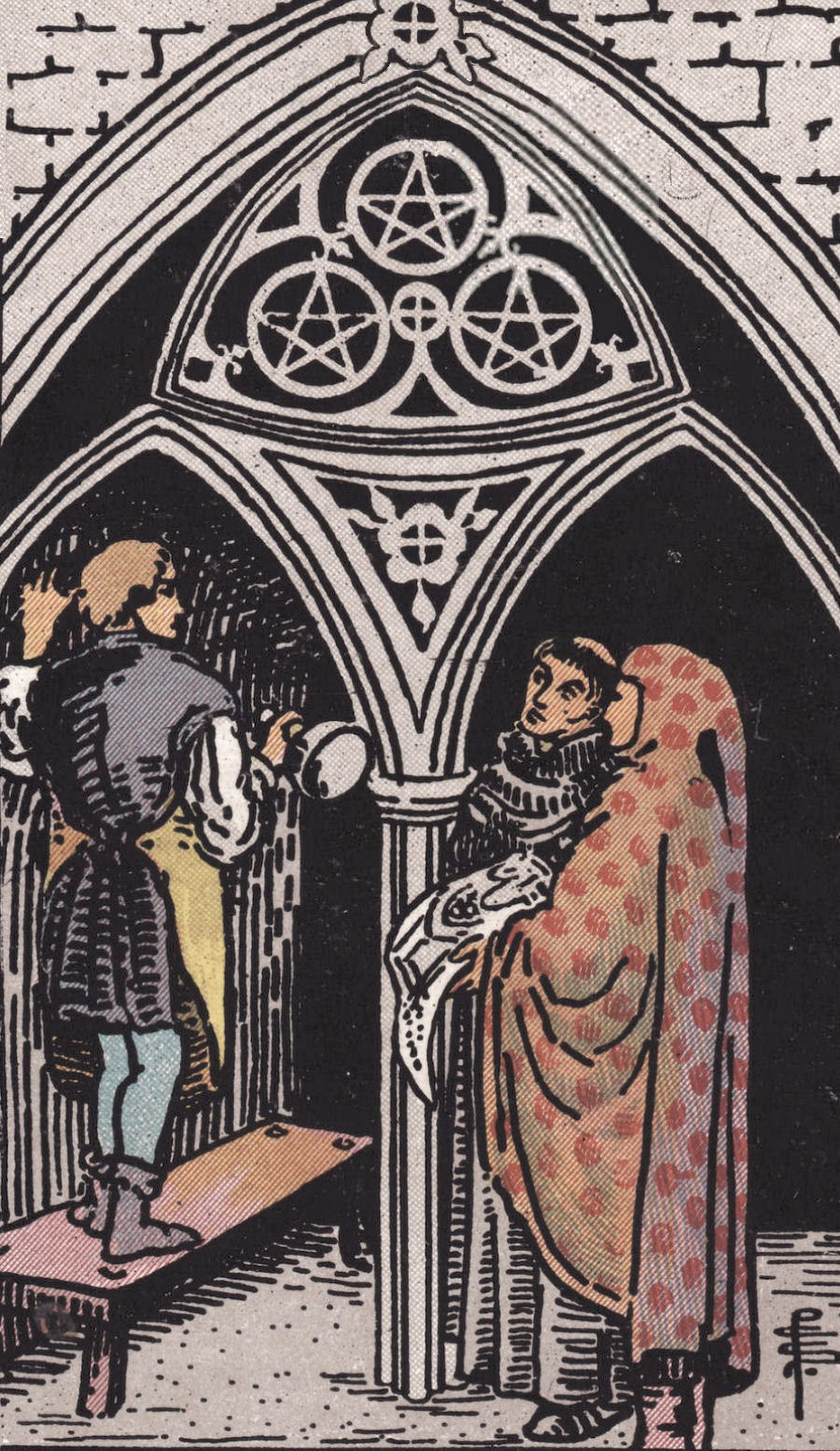 Rider Waite Smith Three of Pentacles Tarot Card Meaning