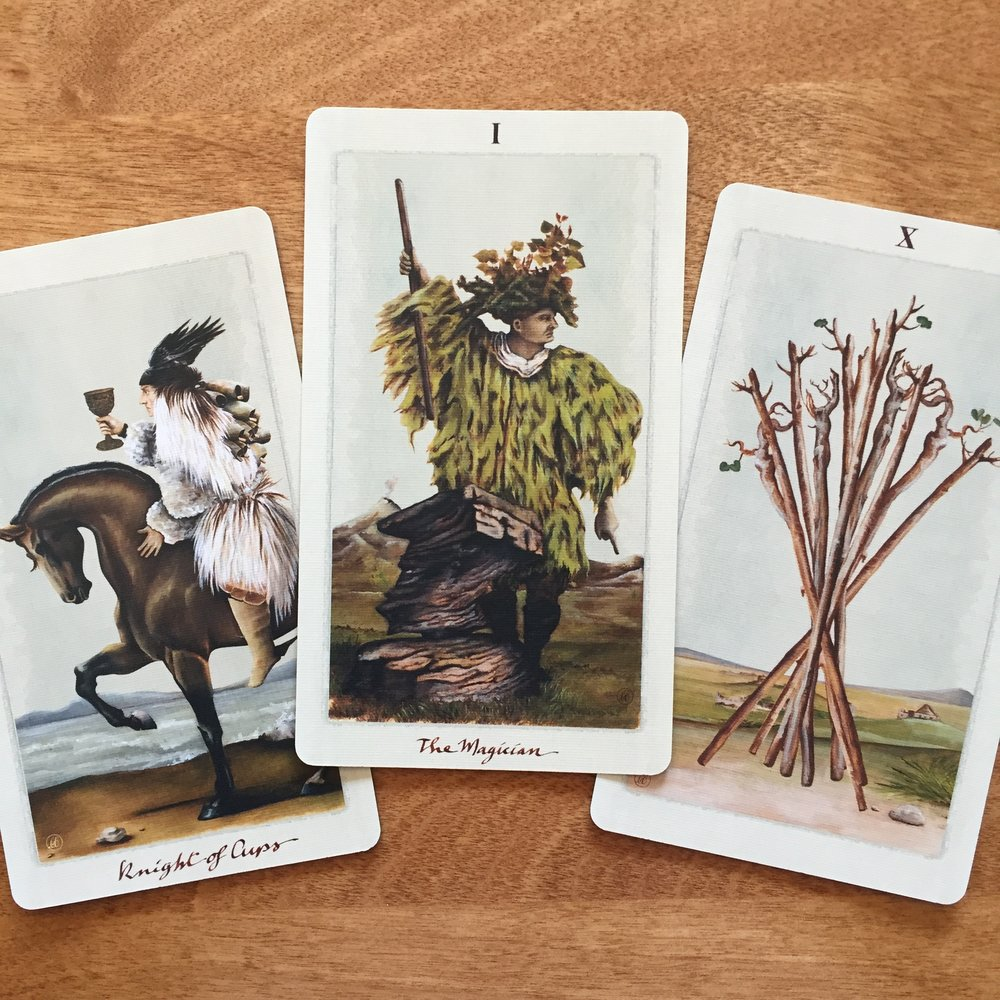 Pagan Otherworlds Tarot Knight of Cups The Magician Ten of Swords