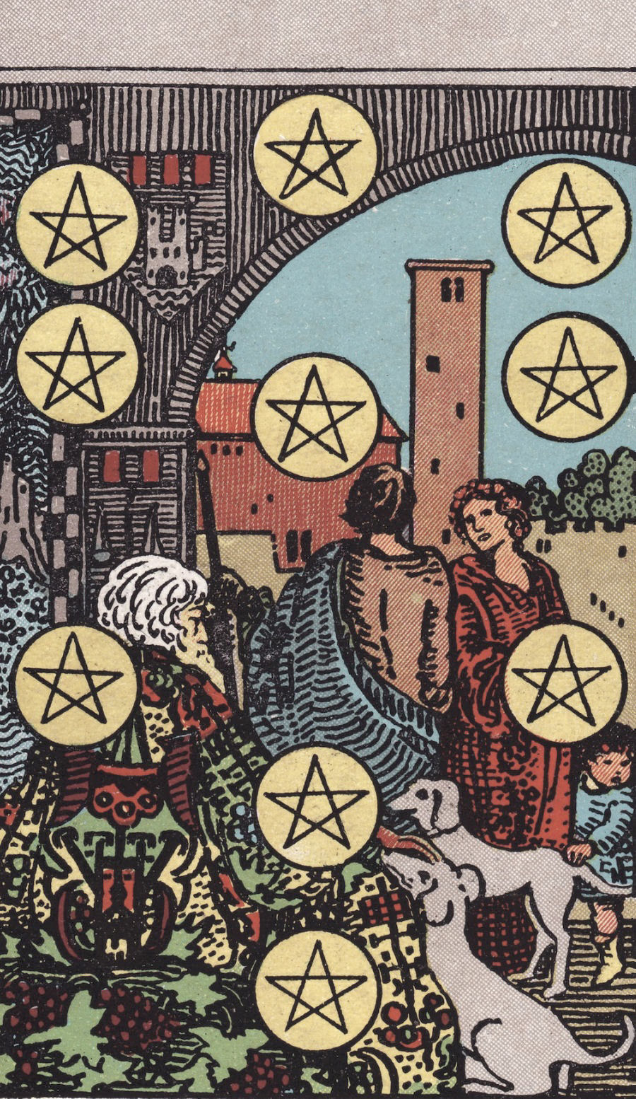 Rider Waite Smith Five of Pentacles Tarot Card Meaning
