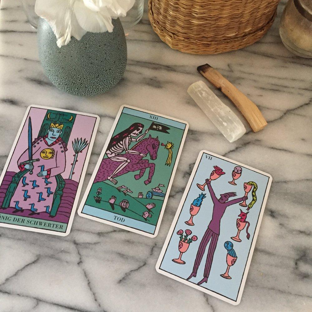 Kitty Kahane Tarot Reading Three Cards