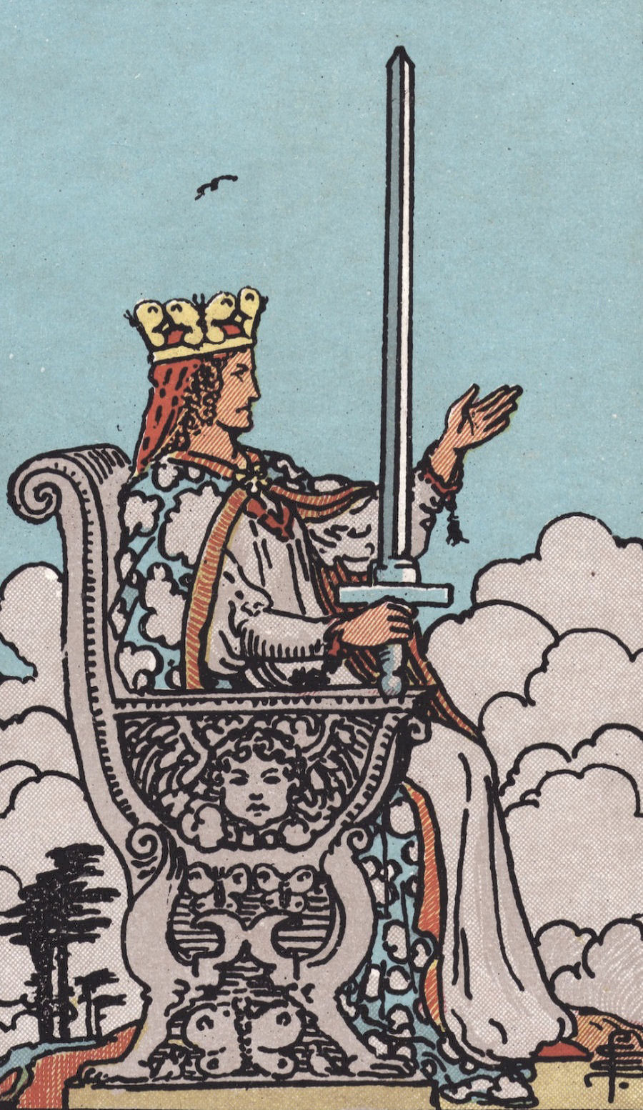 Rider Waite Smith Queen of Swords Tarot Card Meaning