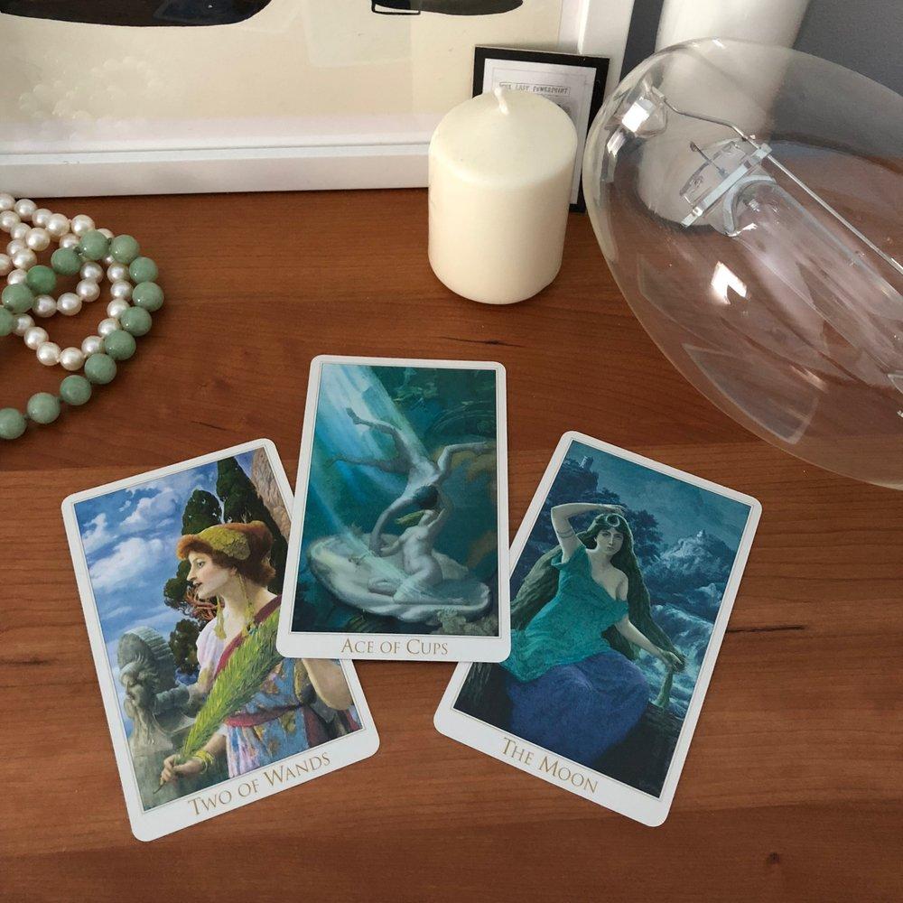 Victorian Romantic Tarot Reading with Three Cards