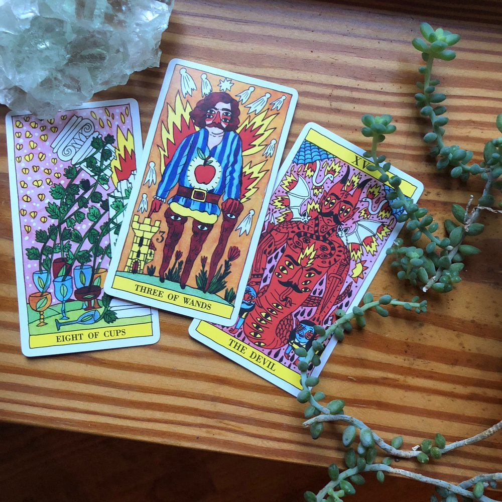 Tarot del Fuego Tarot Reading with Three Cards