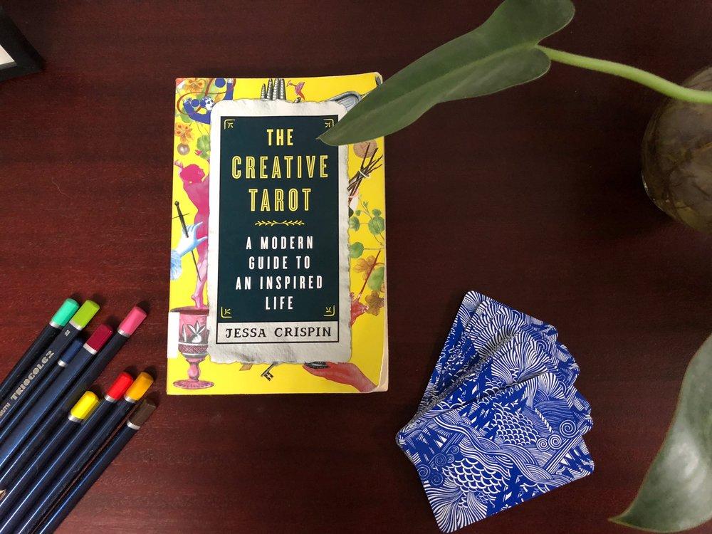 Creative Tarot Book Review Tarot Deck with Colored Pencils