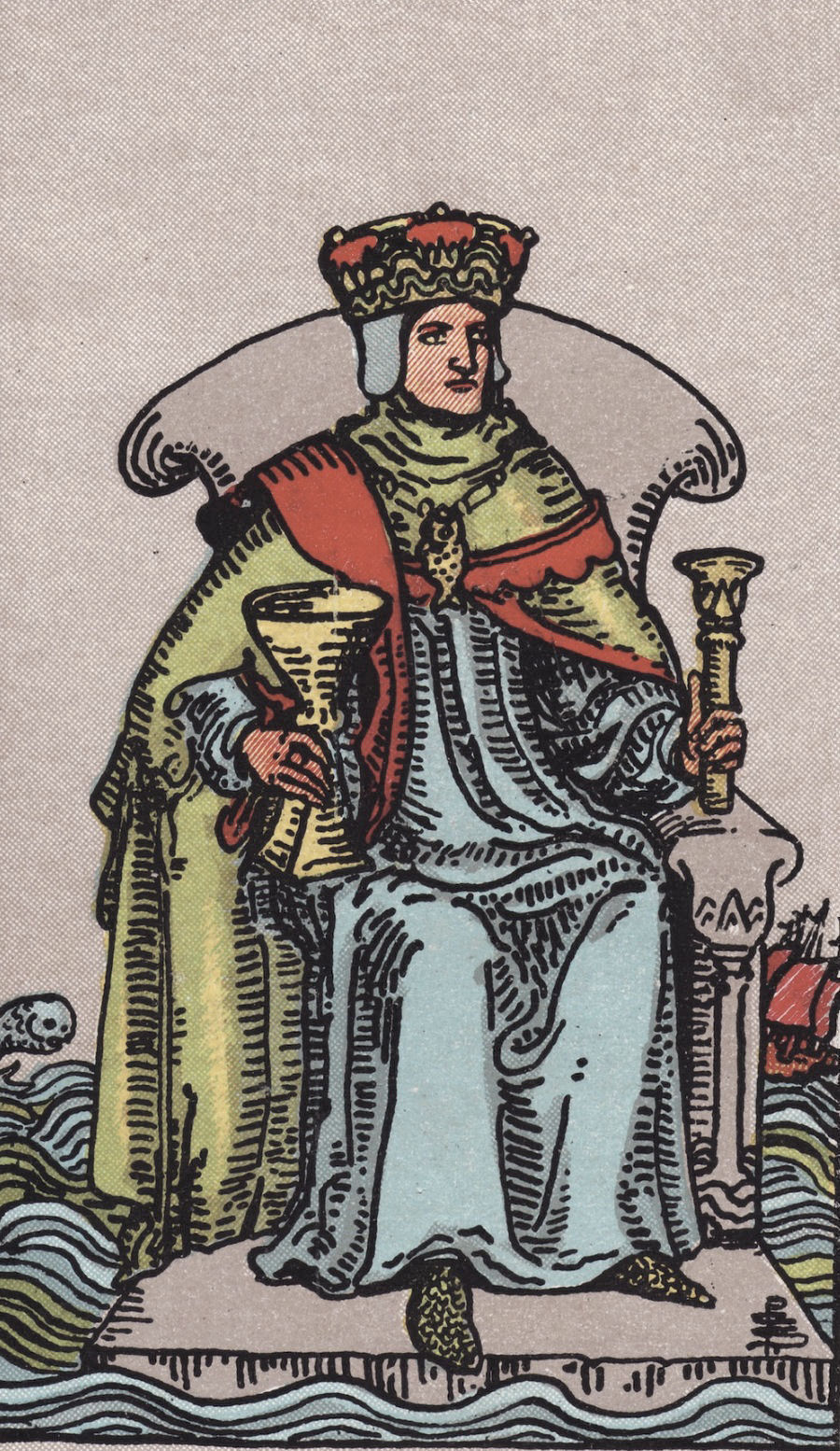 Rider Waite Smith King of Swords Tarot Card Meaning