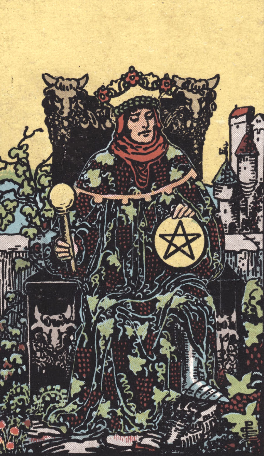 Rider Waite Smith King of Pentacles Tarot Card Meaning