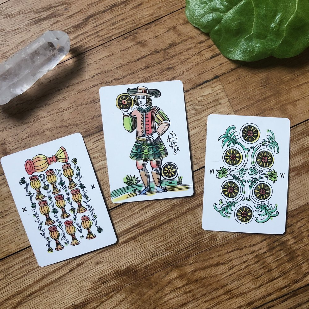 Three Card Reading Marshmallow Marseille Tarot