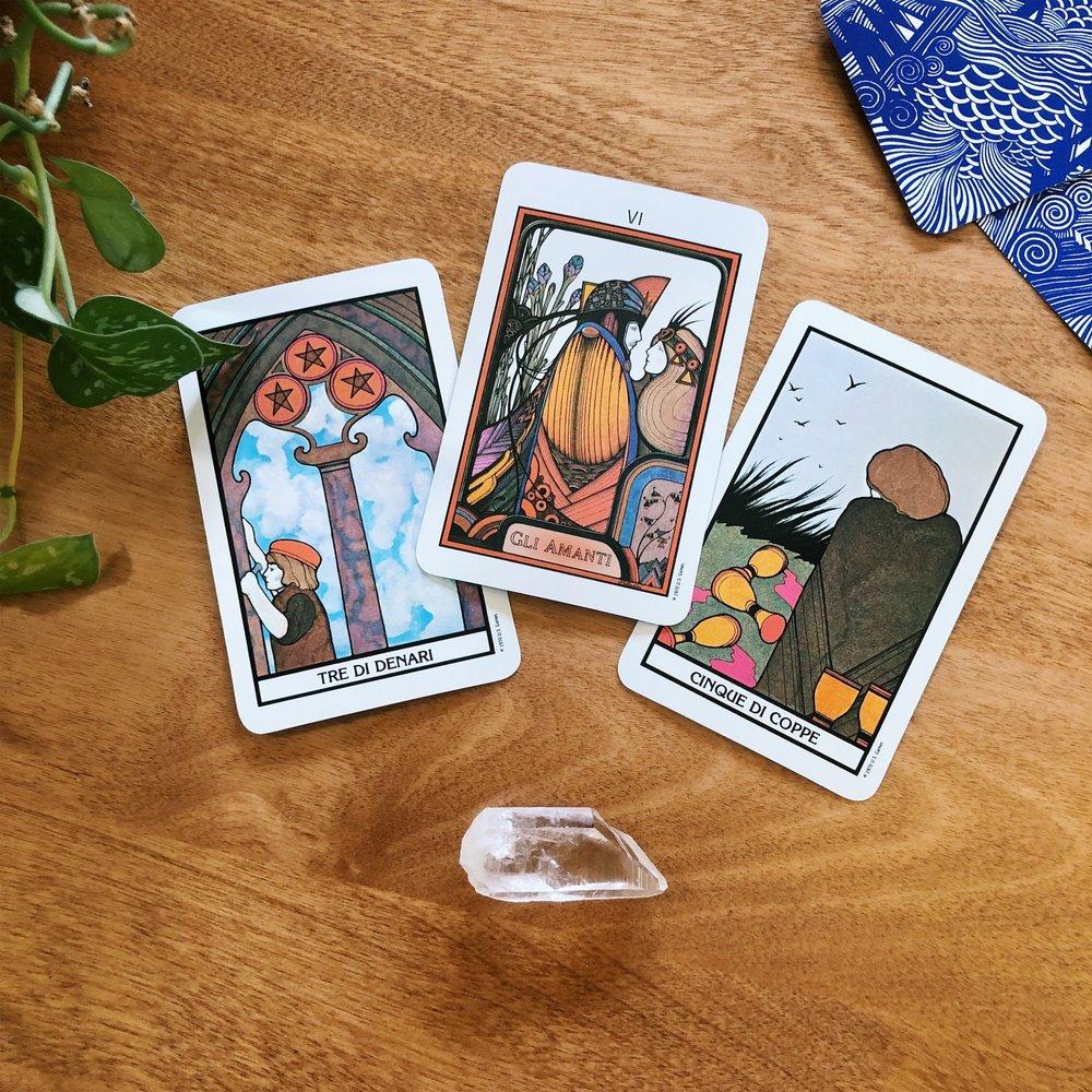 Three Card Reading Spolia Tarot