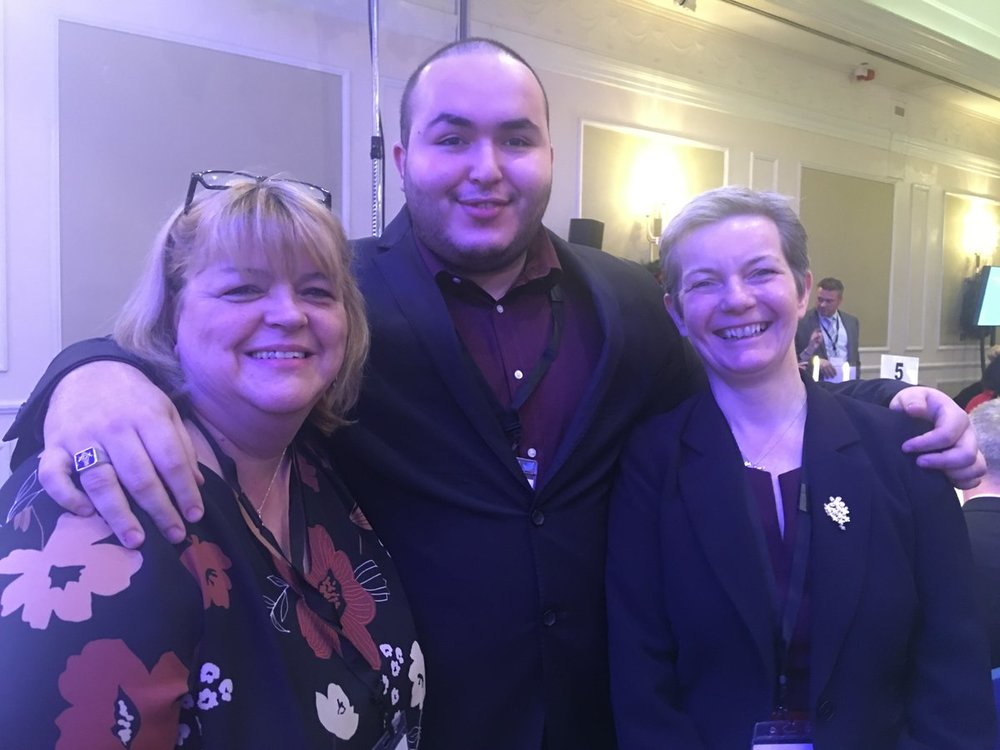 Rafik Hamaizia with Kim Arnold, National Expert by Experience Lead, Choice Support and Andrea Sutcliffe, Chief Inspector of Adult Social Care, Care Quality Commission