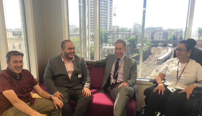 Rafik Hamaizia and Sir David Behan, Chief Executive, Care Quality Commission