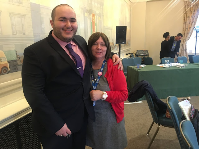 Rafik Hamaizia and Iris Benson MBE, Merseycare NHS at conference on Reducing Restrictive Practice