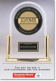 Benjamin Moore J.D Power & Associates award