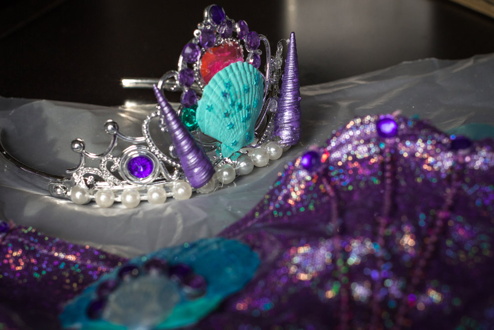 An embellished tiara, what more could a mermaid want?