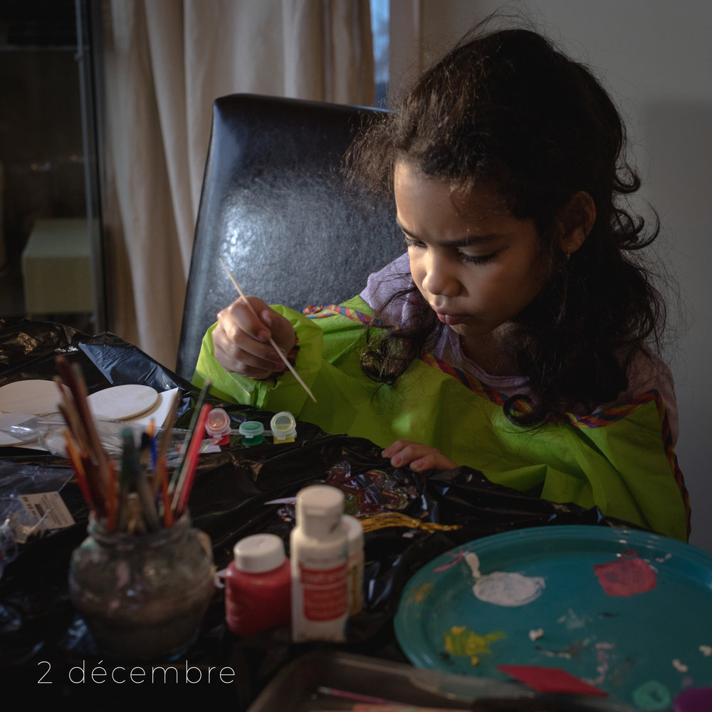 Craft production-My little artist, hard at work