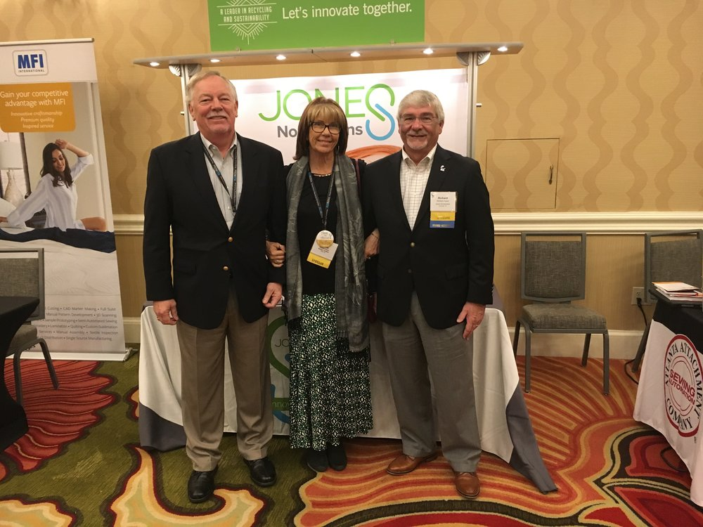 Kenny Oliver and Richard Ayers from Jones Fiber Products with SSA's Tambra Jones