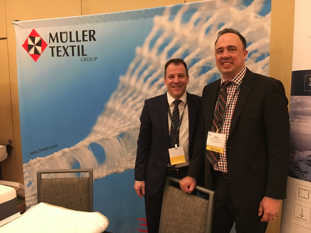 Uli Hammer and Nate Cangemi from Muller Textil Group