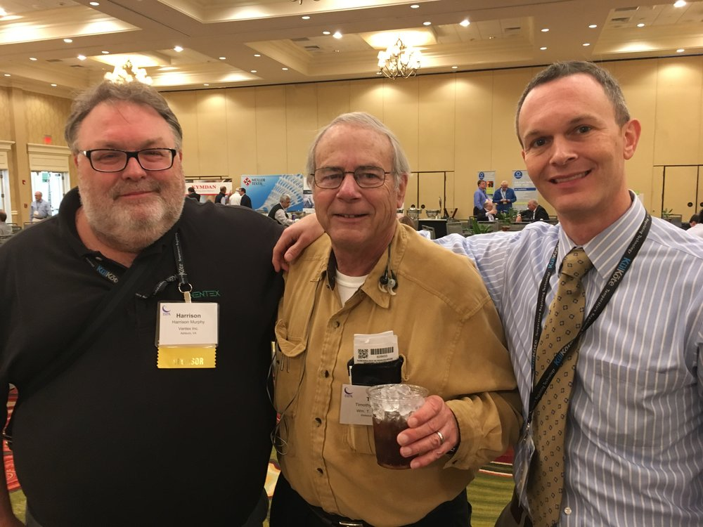 Harrison Murphy from Ventex with SSA members Tim and Henry McCree from Wm. T Burnette.