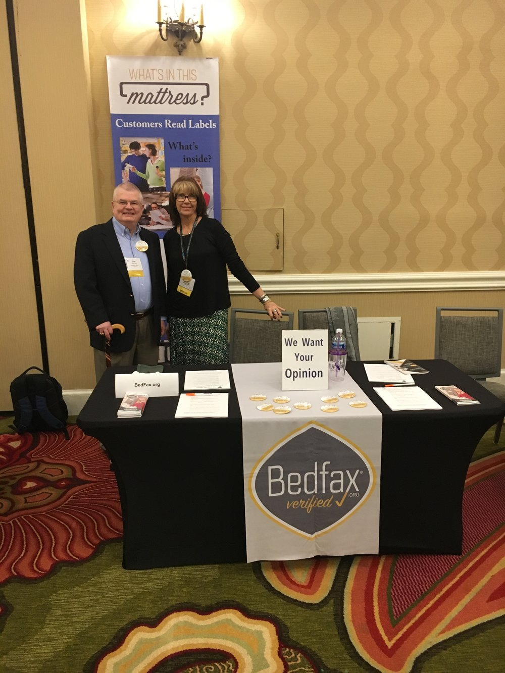 SSA President Dale Read and Executive Director Tambra Jones at the Bedfax® Table