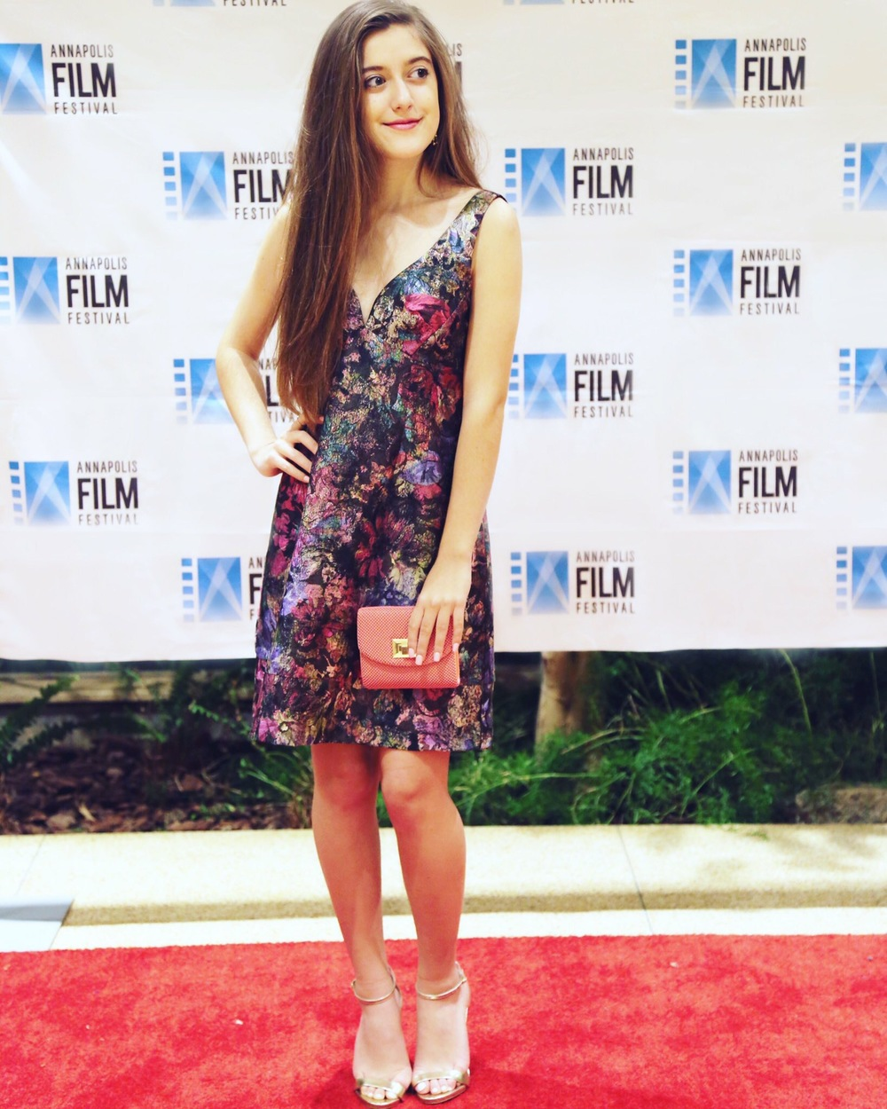 """Karlee Roberts attends the sold out screening of her film at the   Annapolis Film Festival  & speaks on their """"Young Hollywood Panel""""."""