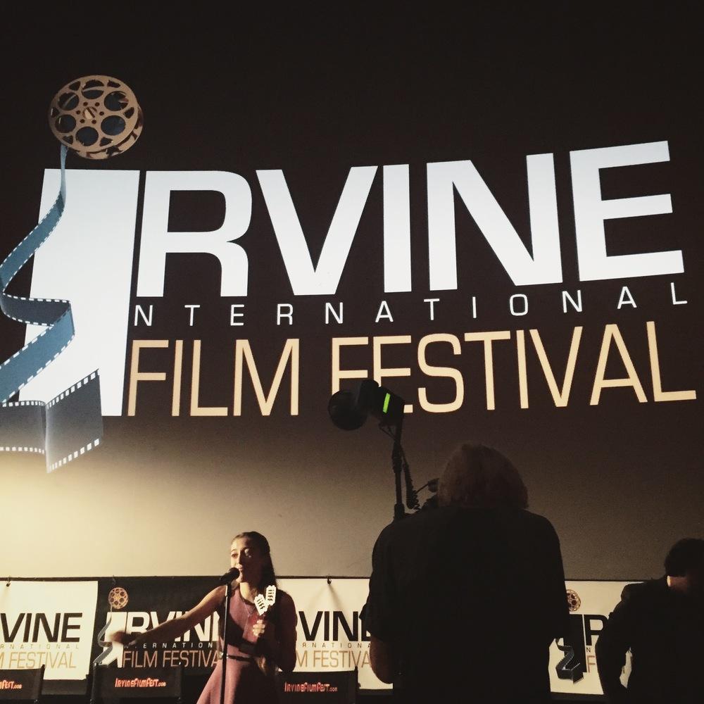 "The Irvine Int. Film Fest awards Karlee ""Best Emerging Actress."""