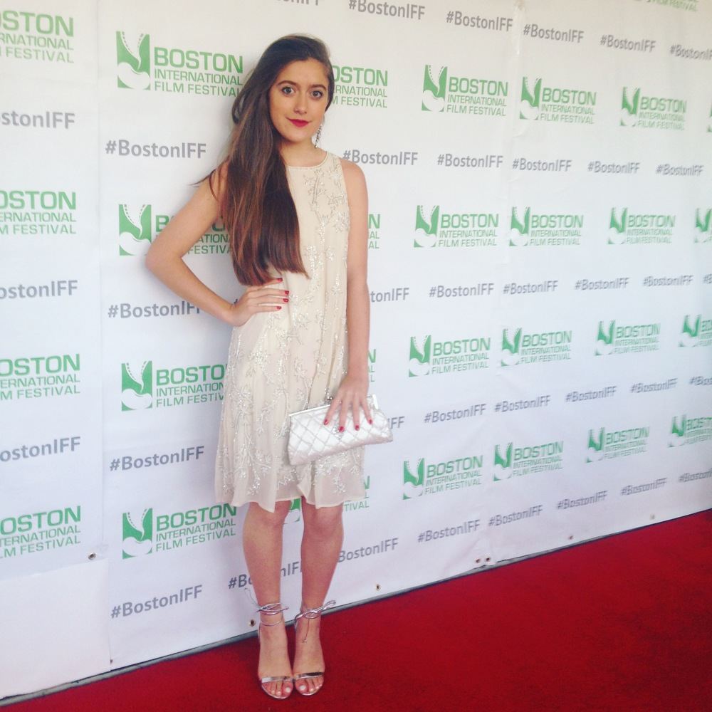 Karlee attends the Boston Int. Film Festival.