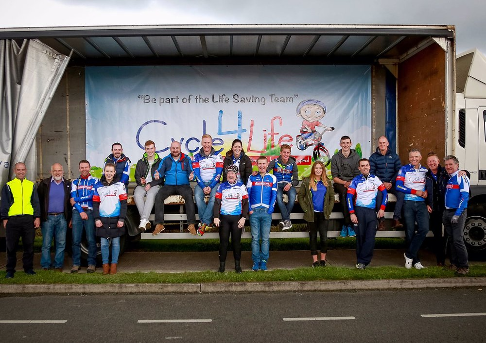 Just some of the Cycle4Life team - pictured here after the 2016 event