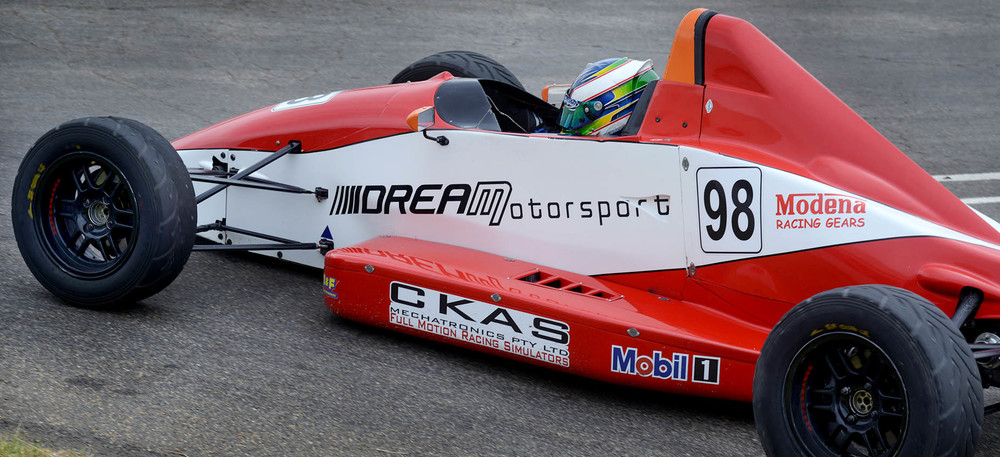 Simon Fallon is seen in the DREAM Formula Ford