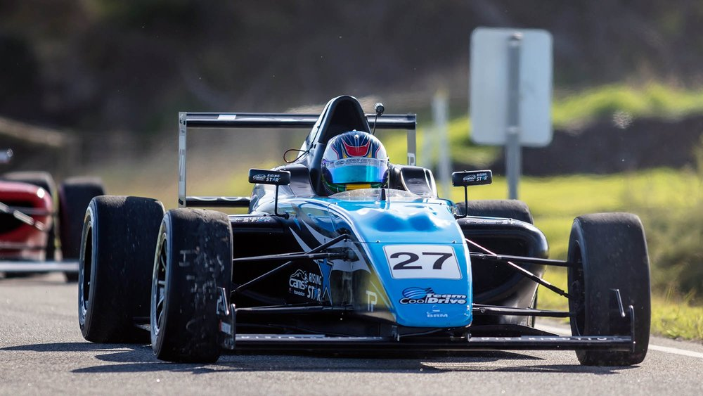 Simon Fallon in his Team BRM FIA Formula 4 race car