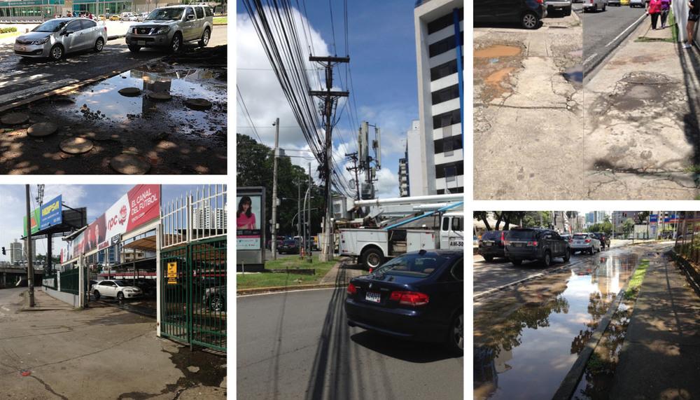 Panorama actual del sector de estudio: problemas de imagen urbana, infraestructura y movilidad peatonal.