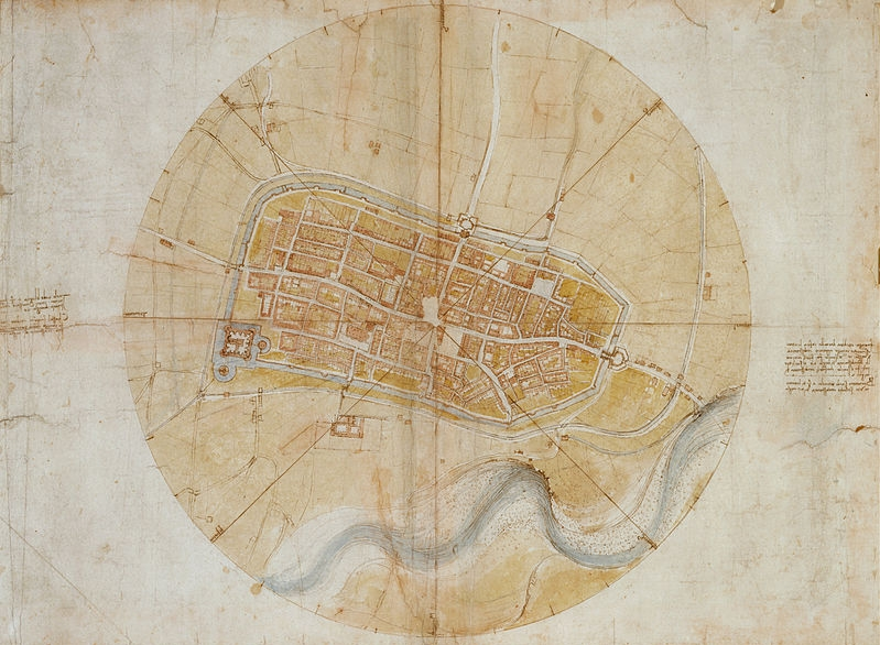 Plan of Imola, Italy