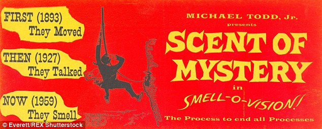 Original poster for the 1960 film Scent of Mystery, the first movie to incorporate the Smell-O-Vision technology