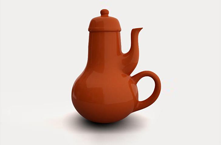 """Jacques Carelman's """"impossible teapot""""."""